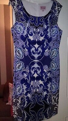 Phase Eight Ladies Lined Sleeveless Dress Size 14 Gorgeous Floral Print