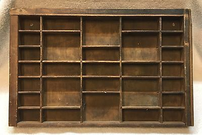 1930's Vintage Antique Wood Newspaper Type Set Drawer Display Tray