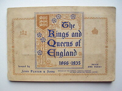John Player Kings And Queens of England Complete Set Cigarette Book