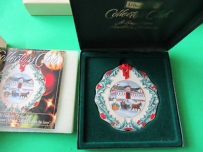 Longaberger~Hometown Christmas~Riding Through The Snow~1999 Ornament~In Case