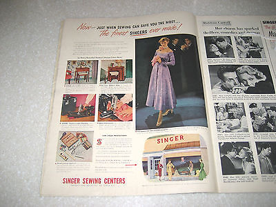 Vintage Singer Featherweight Ad Look Magazine February 15, 1949 - VGUC