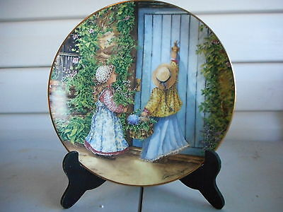 Friends Come Calling Decorator Plate by Catherine Simpson