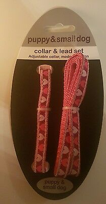 New. Rosewood Puppy & Small Dog Collar & Lead Set