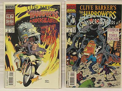 Lot of 2 Clive Barker's The Harrowers #1 & #4 (Marvel 1993)