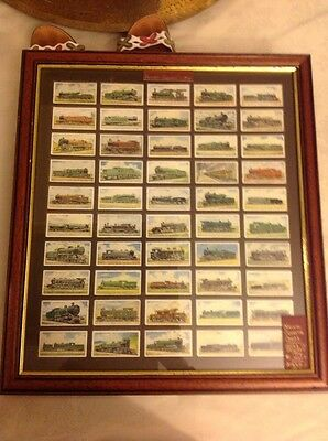 Original Will's Cigarette Cards. Railway Engines 1924. Framed.