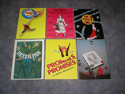 BROADWAY THEATRE PROGRAM COLLECTION-48 DIFFERENT-1950's to 1990's-NOT PLAYBILLS