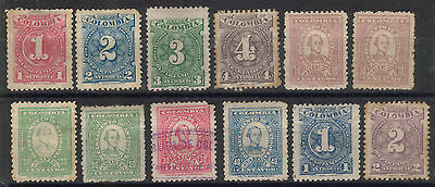 Colombia - Antioquia 1902 -1903 Issues - Various Mint Hinged & Used