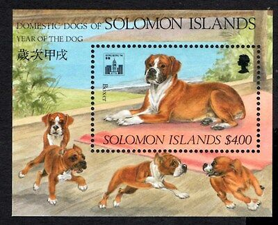 (Ref-9489) Solomon Islands 1994 Year of the Dog  M/Sheet  SG.MS791  Mint (MNH)