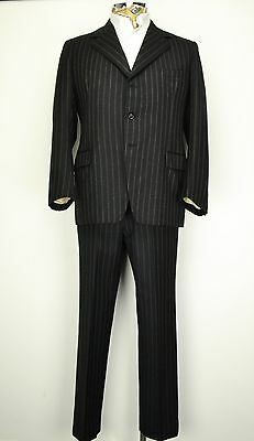 "42"" Regular Vintage 3 Button Pinstripe Suit Bespoke Suit 1970's"