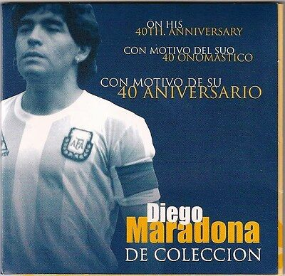 Diego Maradona Coin Medal in Sealed Collectible Blister