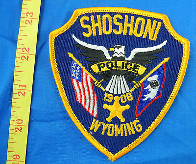 Police Shoshoni Wyoming Embroidered Cloth Patch Dark Blue