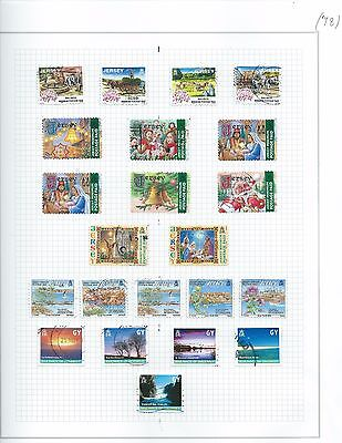 Various Island Stamps of the  Isle of Man, Jesery and Guernsey