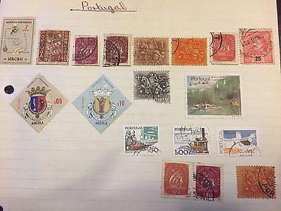 Collection of 18 Portugal stamps .