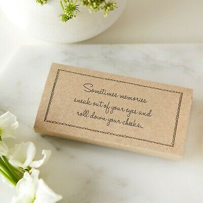 25 Kraft Funeral Tissue Wraps - 'Sometimes Memories Sneak Out of Your Eyes'