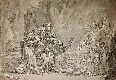 Old master drawing   Circa 1760 French neoclassical Master 18th century