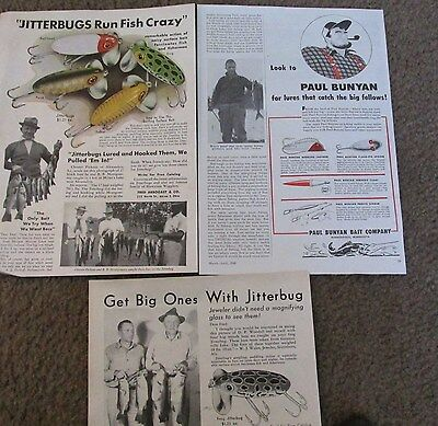 Magazine Print Ads jitterbug Fishing Lures