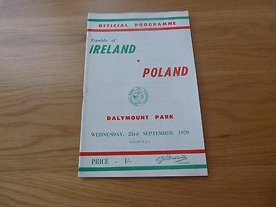 Republic of Ireland v Poland International Programme 1970