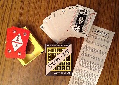vintage SUM IT playing card game - 1960's