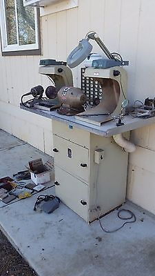 Jeweler's lapidar Station Red Wing Polishing  System with Handler dust collector