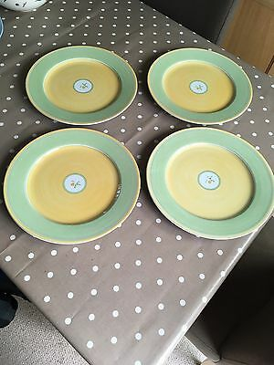 4 X Marks And Spencer Yellow Rose 12 Inch Platters / Serving Plates / Chargers