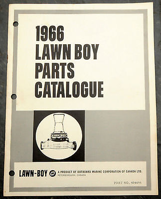 1966 Lawn Boy Parts Catalogue Lawn Mower Owner's Manual Canada Evinrude Johnson