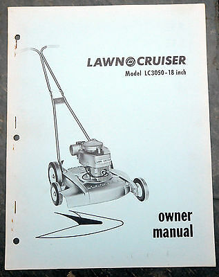 1950's Lawn-Cruiser LC3050 Canada Lawn Mower Owner's Manual Johnson Evinrude