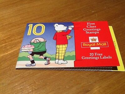 GB 1993 CHILDREN'S CHARACTERS GREETINGS STAMPS BOOKLET KX5 With Cylinder Numbers