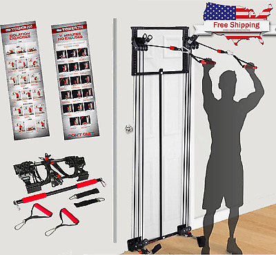 Tower 200 Body By Jake Full Gym Fitness With Workout DVD / Free Straight Bar New