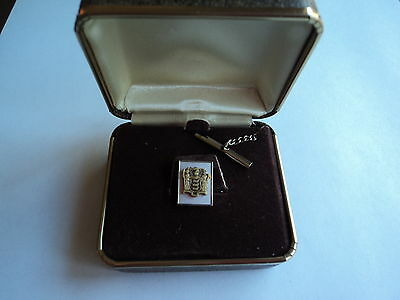 Vintage New Jersey State Crested Tie Pin In Original Box