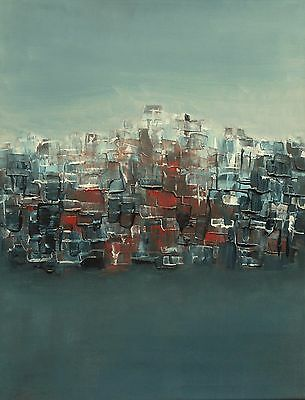 """Original oil painting by Nalan Laluk: """"City on a Hill"""""""