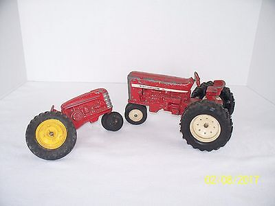 Vintage Toy Tractor Lot Of 2 International & Massey Harris? For Parts