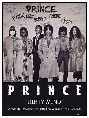 Prince - *POSTER*  - Dirty Mind Promo - AMAZING PICTURE - Rare SIGNED Print