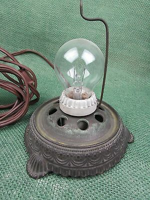 Vintage Cast Iron SCENE-IN-ACTION CORP. Motion Lamp Light Base WORKS
