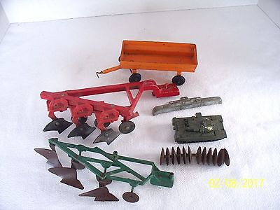 Vintage lot of Toy Farm Implements Ertl  And More For Parts