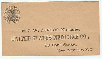19th Century United States Medicine Co. envelope
