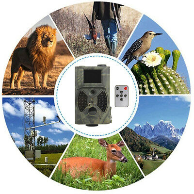 HC-300A HD 12MP Hunting Trail Camera Video Scouting Infrared Night Vision Props