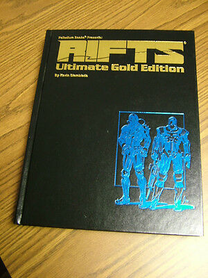 Rifts Ultimate Gold Edition -  Hardcover -- # 78/1500  -- 9 sig.s