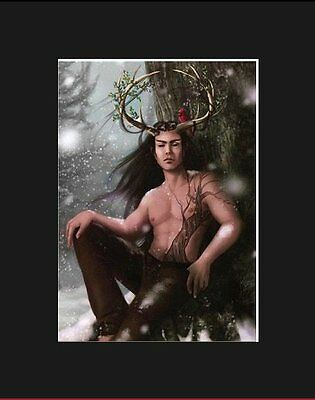 Sensuous Matted Cernunnos Art* Melissa Findley * Mistletoe