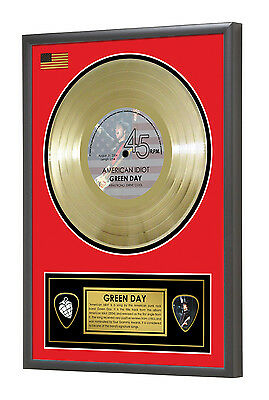 Green Day American Idiot Framed Gold Disc Display Vinyl (45rpm)