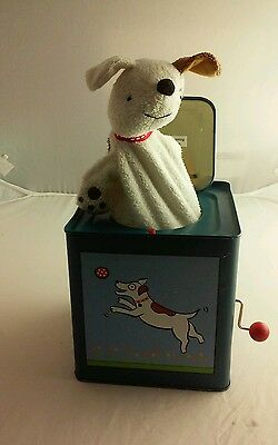 Puppy Jack in the Box Jack Rabbit Creations Tin Wind Up Toy Jack In The Box