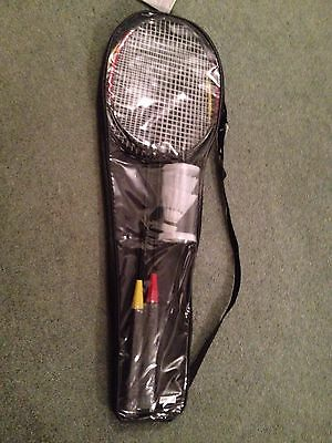 New 2 Player Badminton Set With Rackets, Bag & Shuttlecocks