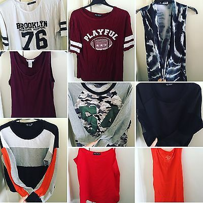Job Lot Of Tops And Jumpers UK Size 10,12,14 Select Boohoo H&M Peacocks & Klass