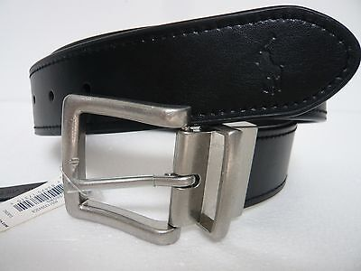NWT Polo by Ralph Lauren Leather Reversible Black/Brown Belt  32, 34 ,36, 38