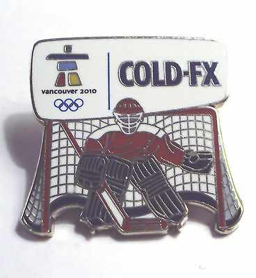 Cold FX Vancouver Olympics Goalie Metal Lapel Pin #10