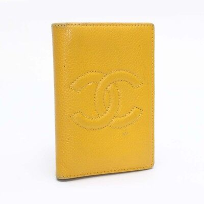 Authentic CHANEL Card Case Business Card Case Leather  10099591