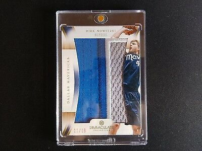 Dirk Nowitzki - 12-13 Immaculate Collection Jumbo Prime Patch Numbers 11/19 RARE