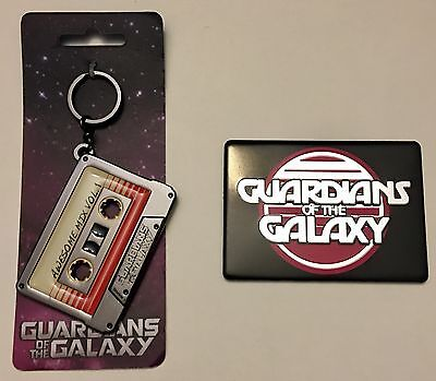NEW! Marvel Movie Guardians of the Galaxy Lot: Metal Mixtape KEYCHAIN & MAGNET!