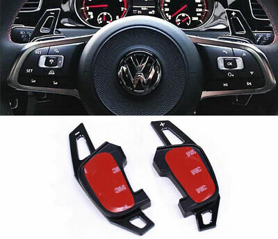 VW Golf MK7 R Scirocco Polo GTI Black Metal DSG Paddle Shifter Shift Extensions