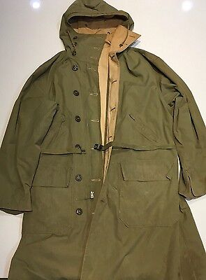 Original WWII U.S. Army Parka Type Reversible Overcoat