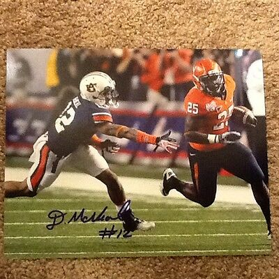 Demetruce McNeal Signed 8x10 Auburn Football Photo With Exact Proof
